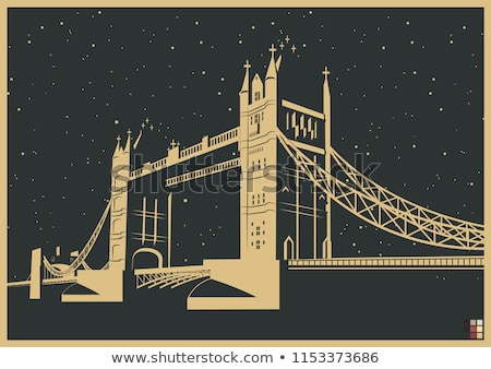 Arch Tower Bridge Londra cielo nube architettura Foto d'archivio © IS2