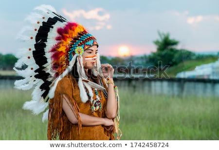 Nina nativo americano nino jardín diversión Foto stock © IS2