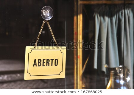 Stock photo: Entrance sign in portuguese
