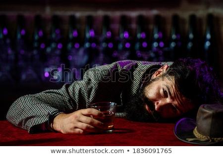 Depresji człowiek szkła whisky Licznik bar Zdjęcia stock © wavebreak_media
