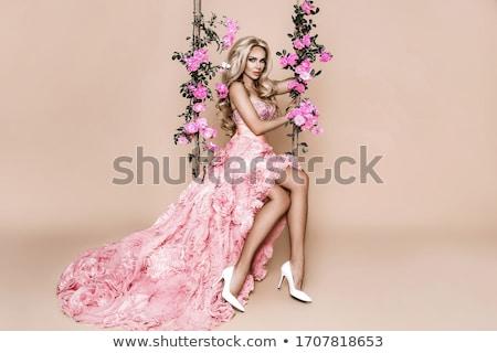 魅力的な · ブロンド · 少女 · 花 · 美 · 肖像 - ストックフォト © neonshot