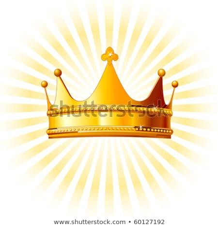 dorado · corona · aislado · blanco · diseno · signo - foto stock © studiostoks
