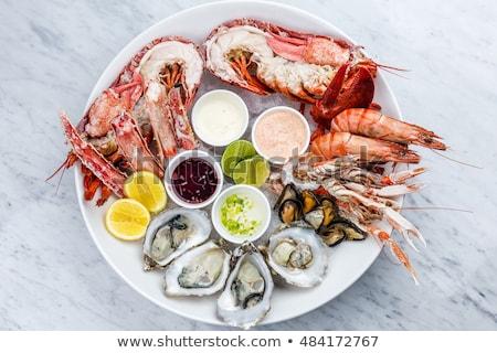 プレート シーフード 魚 サラダ 前菜 背景 ストックフォト © Walmor_