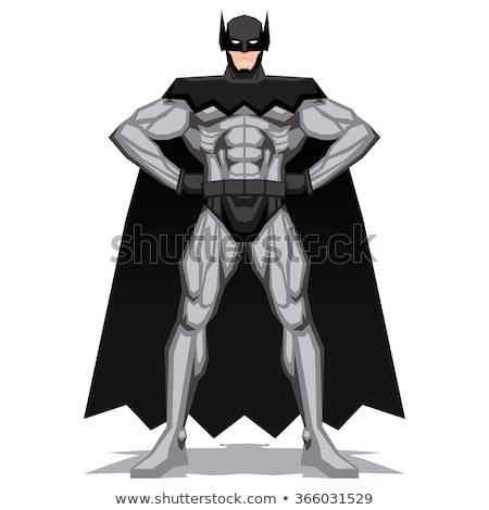 homme · bat · silhouettes · hommes · baseball · noir - photo stock © laschi