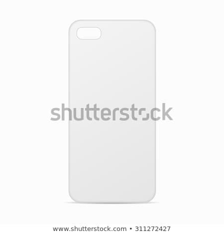 スマートフォン · 場合 · 白 · 黒 · 電話 - ストックフォト © Macartur888