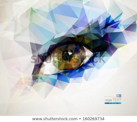 Geométrico olho isolado blue sky mulher médico Foto stock © Valeo5