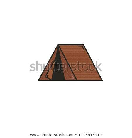 çadır ikon stok resim yazı örnek yalıtılmış Stok fotoğraf © JeksonGraphics