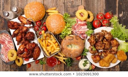assorted american food stock photo © m-studio