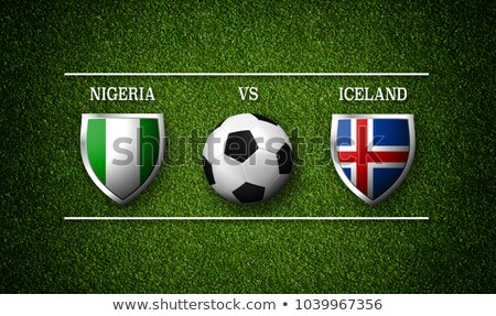 Zdjęcia stock: Piłka · nożna · meczu · Nigeria · vs · Islandia · piłka · nożna