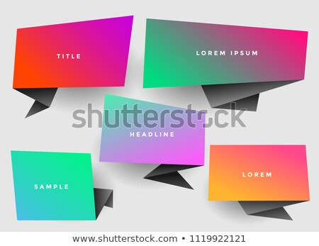 vibrant stylish origami chat bubble with copyspace Stock photo © SArts