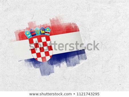 Croatia national flag against parchment Stock photo © wavebreak_media