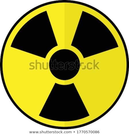 Nucleaire explosie geïsoleerd witte cartoon Stockfoto © rogistok