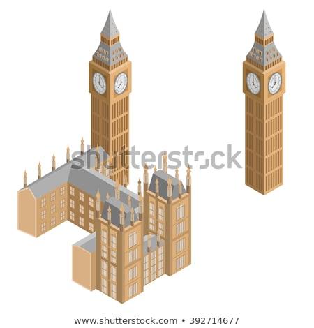 Isométrica Big Ben edifício texto 3d inglaterra Foto stock © Genestro