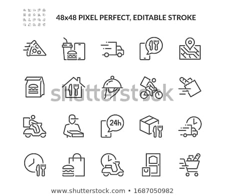 shopping and delivery icons set stock photo © genestro