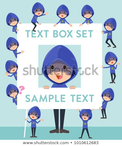 Azul caixa esportes ginásio homens Foto stock © toyotoyo