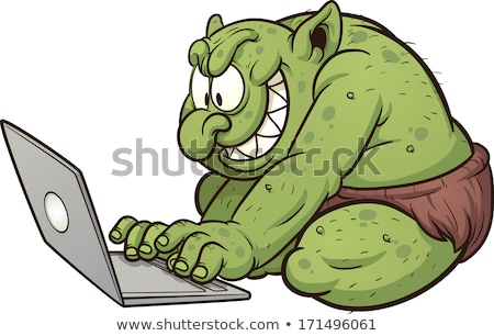 Cartoon Internet Troll Stock photo © cthoman