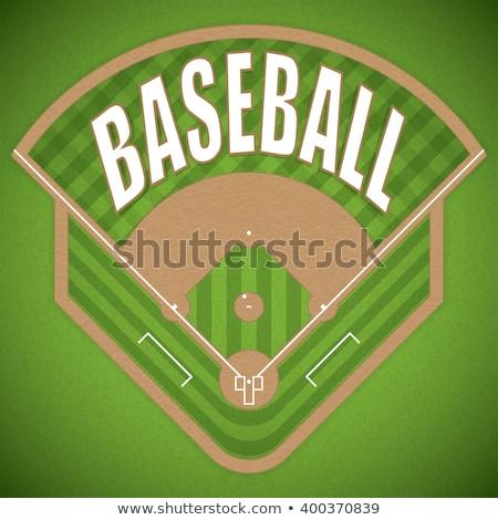 Baseball pálya légifelvétel ikon vékony vonal terv Stock fotó © angelp