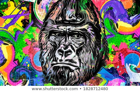 Cartoon Stupid Gorilla Stock photo © cthoman