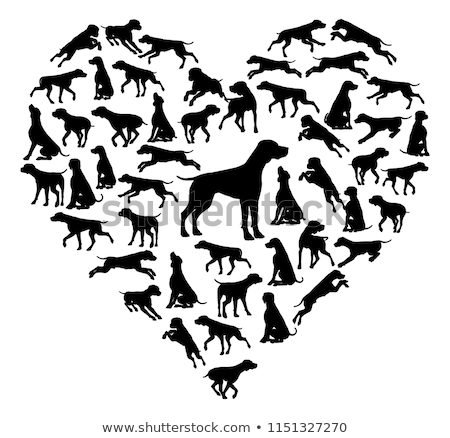 Pointer Dog Heart Silhouette Concept Stock photo © Krisdog