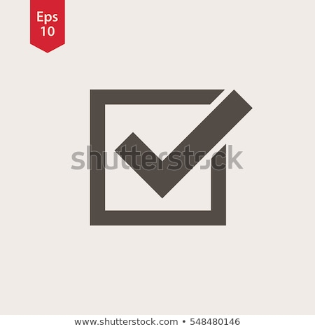 Checkbox Icon. Flat Symbol Style. Simple Web Design. Vector Illustration Sign. Stock photo © kyryloff