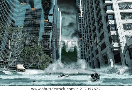 Naturalismo catástrofe cena tsunami ilustração céu Foto stock © bluering