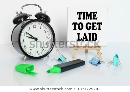 time to get laid clock concept stock photo © ivelin