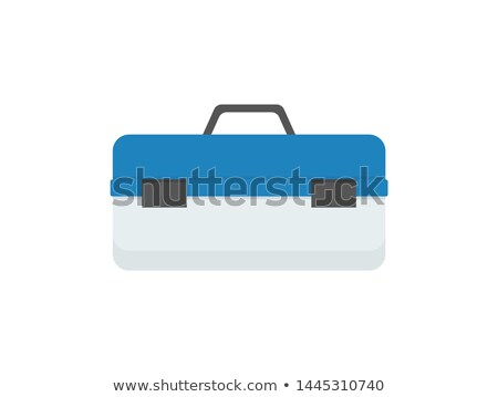 Heavy Blue Toolkit Box with Convenient Handle Stock photo © robuart
