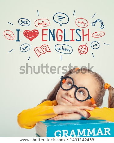 elementary school grammar lesson in classroom stock photo © robuart