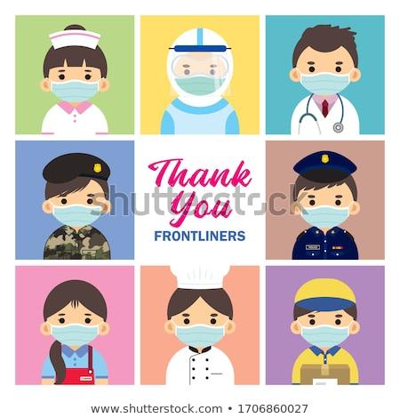 Server Doctor Professions Set Vector Illustration Stock photo © robuart