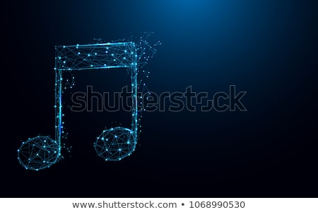 Polygonal musical symbol Stock photo © blackmoon979