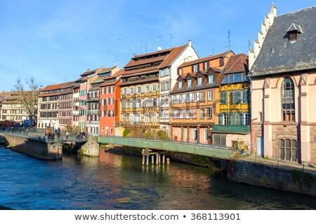 District France couvert pont ciel eau Photo stock © Givaga