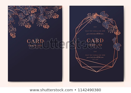 Gold Floral Save the Date Card Template Stock photo © ivaleksa