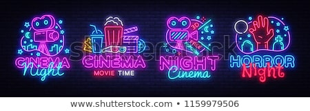 cinema neon banner design stock photo © anna_leni