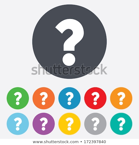 blue question mark round button Stock photo © hlehnerer