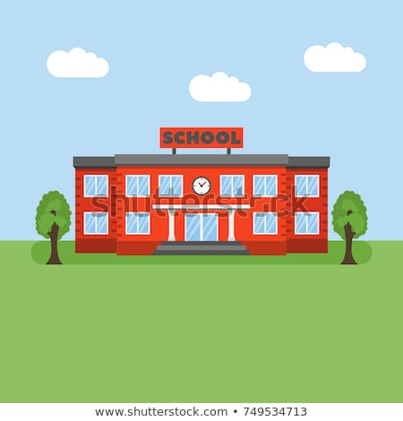 School Building Vector. University House Fasade. College Front Entrance. Isolated Cartoon Illustrati Stock photo © pikepicture