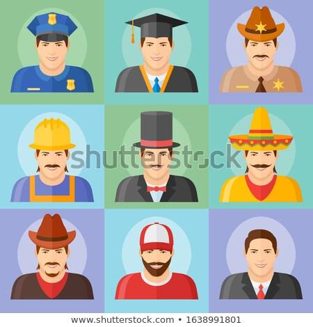 sheriff cowboy man avatar people icon stock photo © krisdog