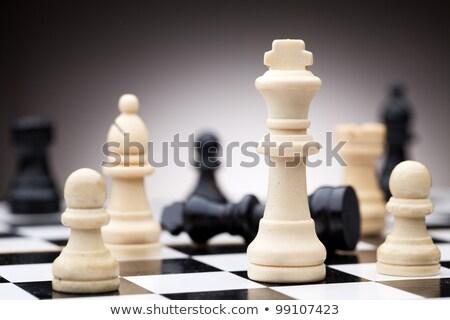 witte · pion · schaken · cijfer · hout · achtergrond - stockfoto © bdspn