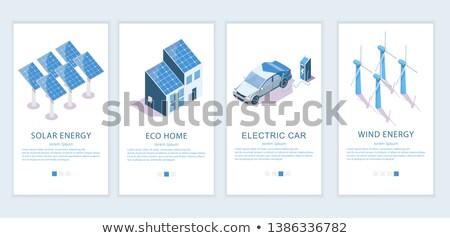 vento · poder · indústria · moinho · de · vento · energia · gerador - foto stock © rastudio