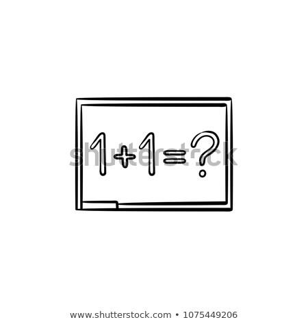 Tahta matematik görev kroki ikon Stok fotoğraf © RAStudio