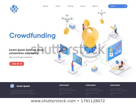 onderneming · investering · landing · pagina · sjabloon - stockfoto © tarikvision