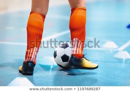 ligue · footballeur · chaussures · formation - photo stock © matimix