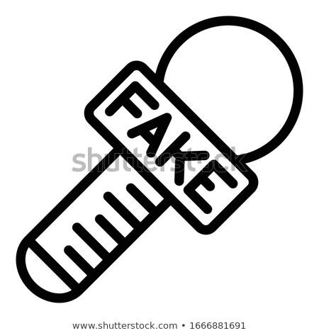 Microphone Fake News Isolated Stock photo © make