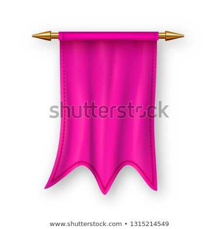 Pink Pennat Flag Vector. Competition Element. Victory, Winner. Empty Template. Heraldic 3D Realistic Stock photo © pikepicture