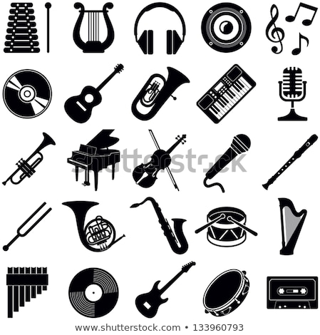 Electric Guitar Musical  Instrument with Notes Stock photo © robuart