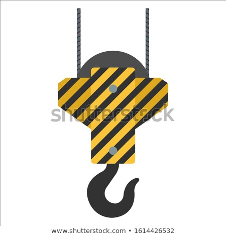 Crane hook lifting container Stock photo © angelp