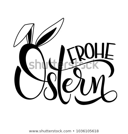 Frohe Ostern Easter Eggs Vintage Banner Stock photo © limbi007