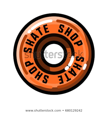 Kleur vintage skate winkel embleem ontwerp Stockfoto © netkov1
