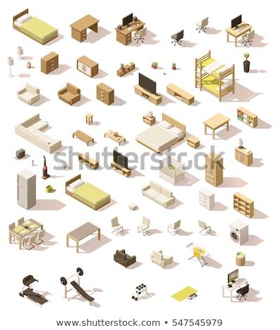 Stockfoto: Interieur · kleur · isometrische · iconen · geïsoleerd · internet