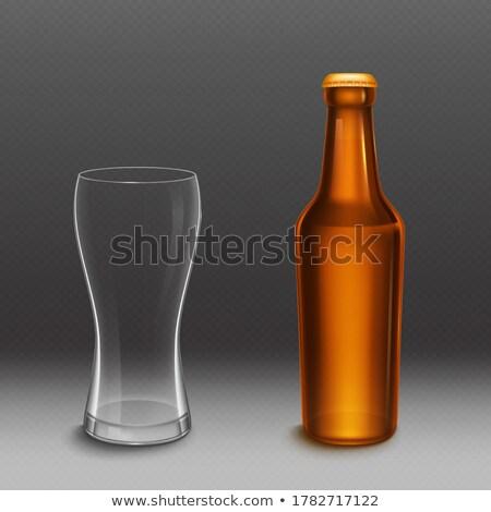 Bierfles vector lege glas bier Stockfoto © pikepicture