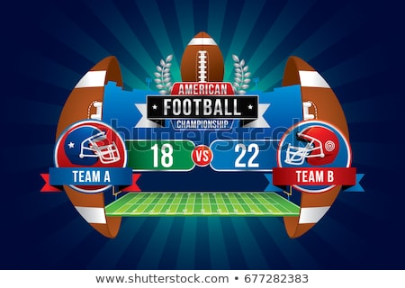 Amerikaanse voetbal scorebord icon schaduw reflectie Stockfoto © angelp